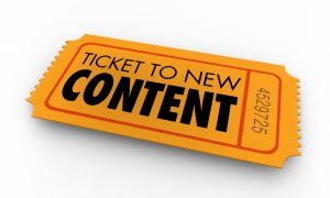 Ticket to new content